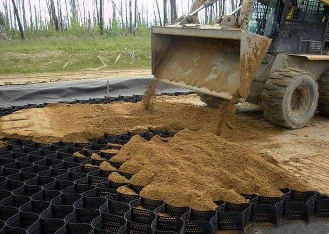 И конечно песок