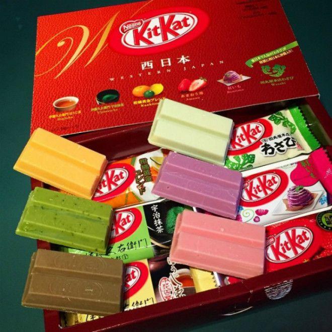 Необычные вкусы Kit Kat