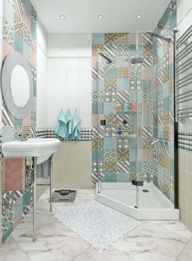 Классический средиземноморский стиль в компактной современной ванной комнате
