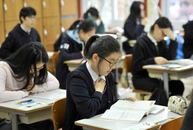 Школьные будни в Южной Корее