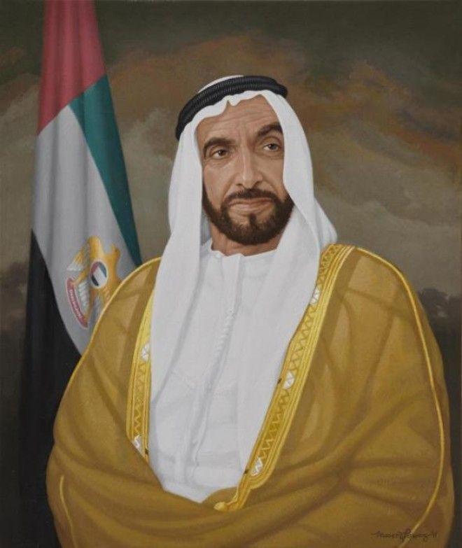 Шейх Зайд ибн Султан Аль Нахайян Фото wwwartabuscom