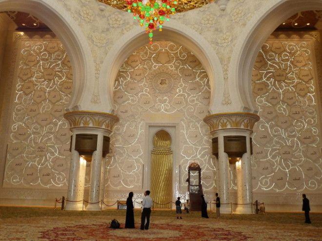Стена Киблы в Мечети шейха Зайда Фото wwwcheaptravelinsuranceinfo