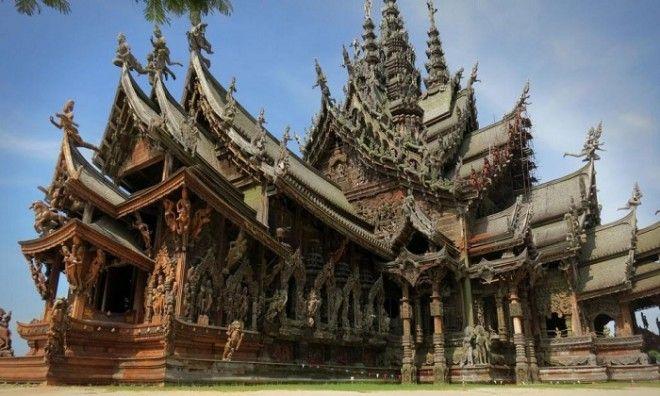 Святилище истины самое фантастическое культовое сооружение Таиланда