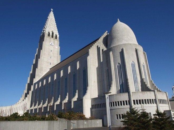 Церковь поражает своей масштабностью и величием Церковь Халлгримура