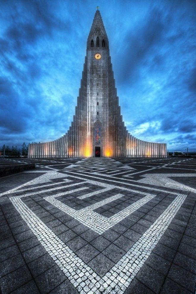 Церковь Халлгримура в Рейкьявике Исландия