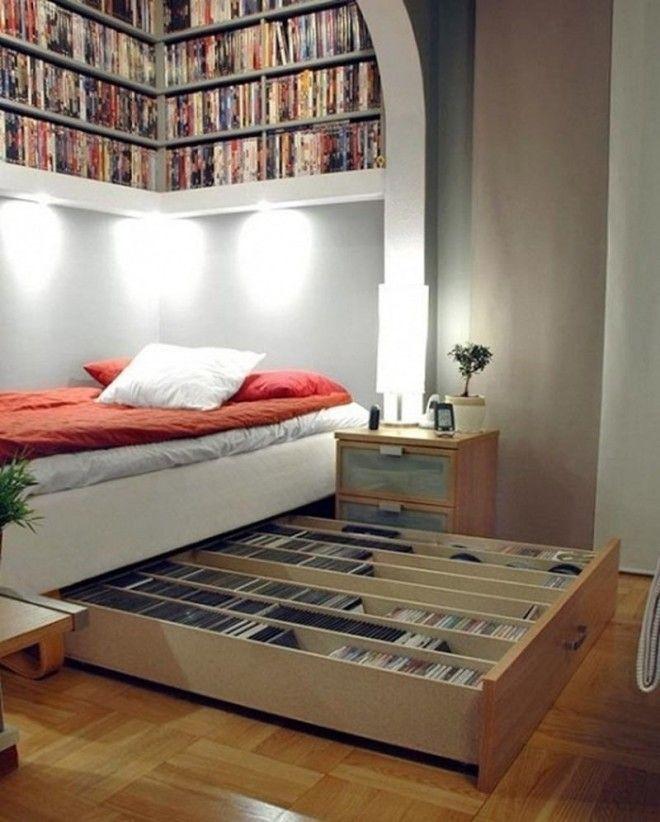 11. Книги под кроватью - отличный способ хранения дизайн, идеи для дома, интерьер, крутые идеи, фото