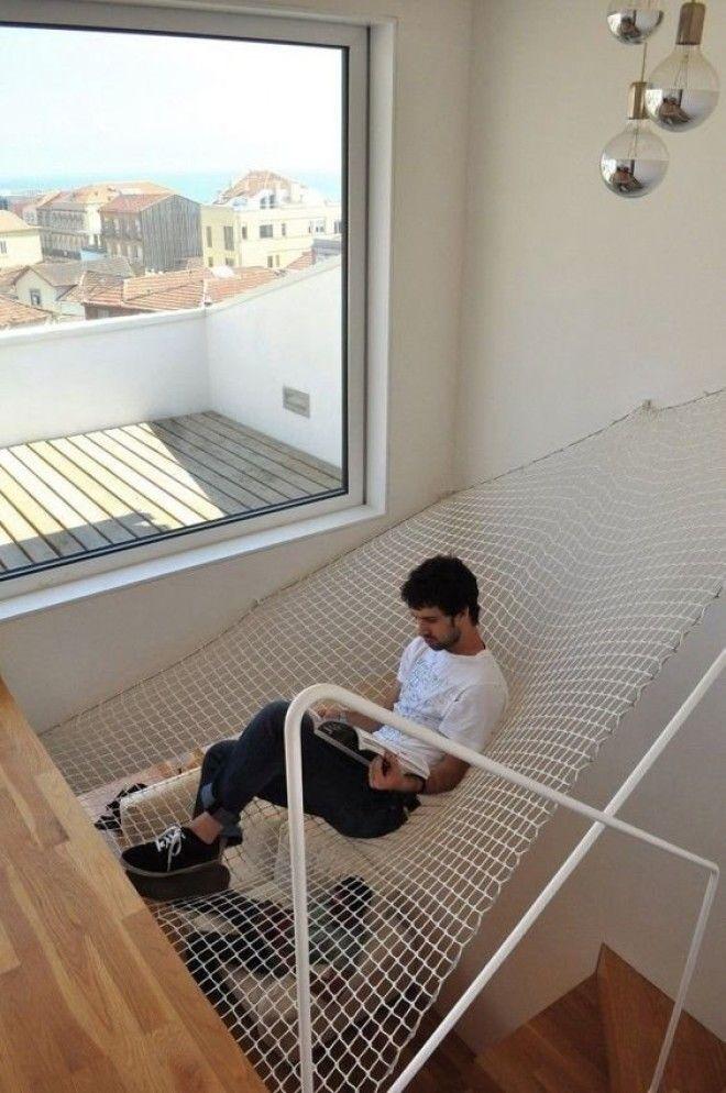 12. Сетка для релакса - можно растянуть, где угодно дизайн, идеи для дома, интерьер, крутые идеи, фото