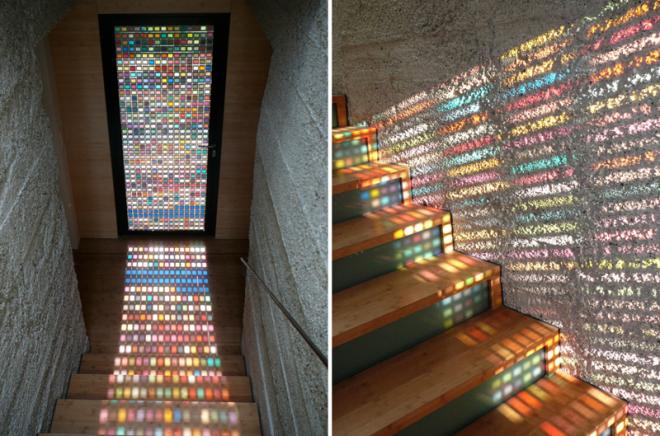13. Окно из мозаики подарит радость дизайн, идеи для дома, интерьер, крутые идеи, фото