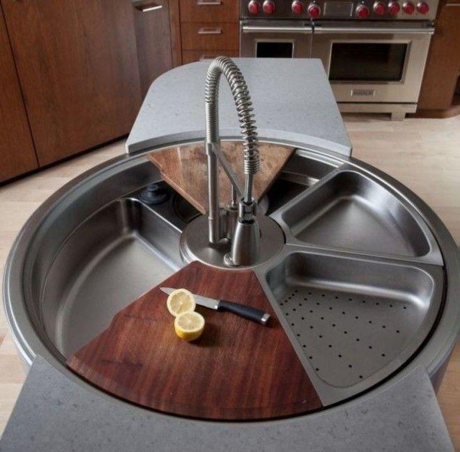 2. Многофункциональная раковина дизайн, идеи для дома, интерьер, крутые идеи, фото