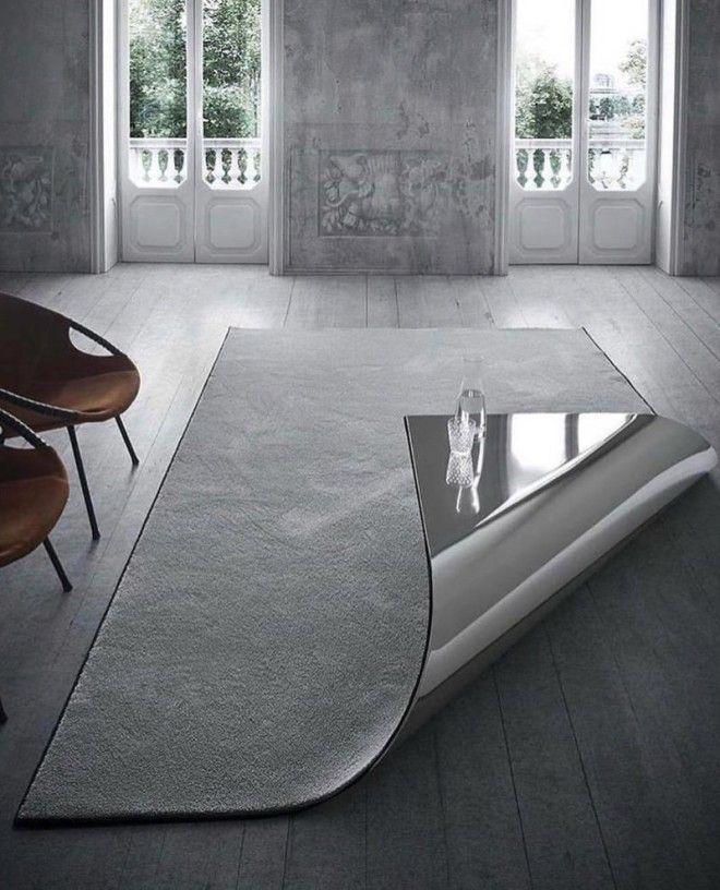 7. Коврик, который может стать столом, когда вам это понадобится дизайн, идеи для дома, интерьер, крутые идеи, фото