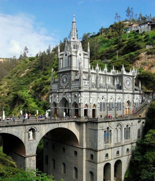 Величественный собор ЛасЛахас Колумбия