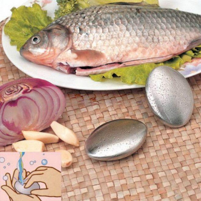 Металлическое мыло эффективно удаляет запах рыбы