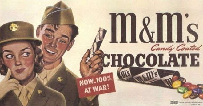 Конфеты MMS которые не тают в жару были придуманы для военных в 1941 г