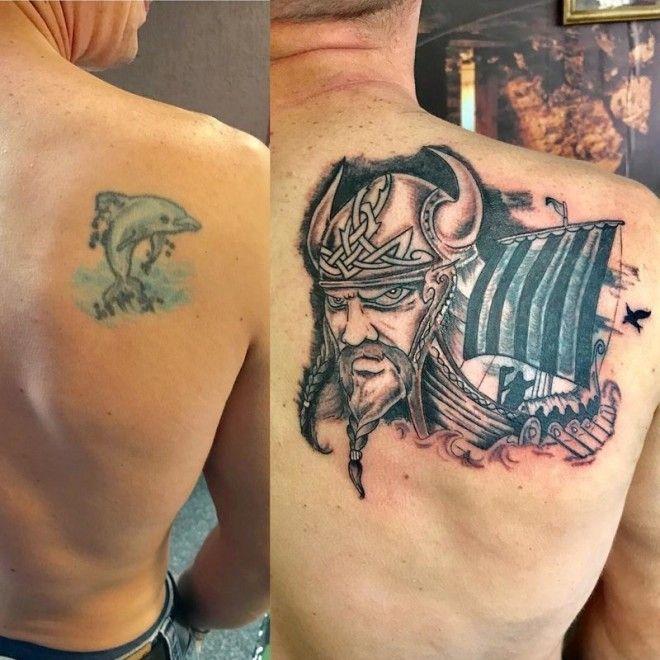 BВторой шанс 30 примеров перекрытий старых тату