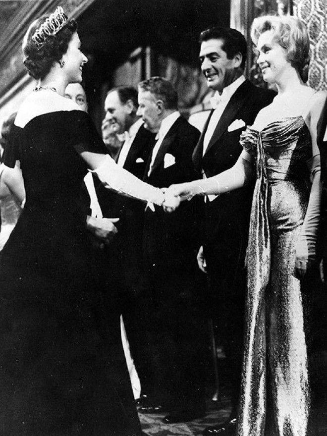 Мэрилин Монро и королева Елизавета II
