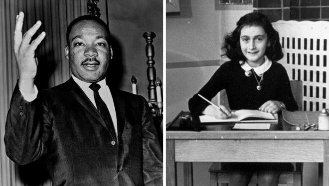 Анна Франк и Мартин Лютер Кинг