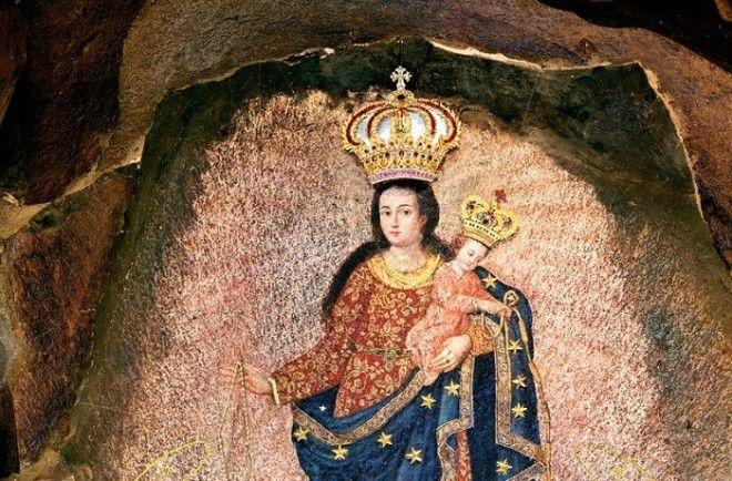 Чудотворная наскальная икона Собор ЛасЛахас Колумбия