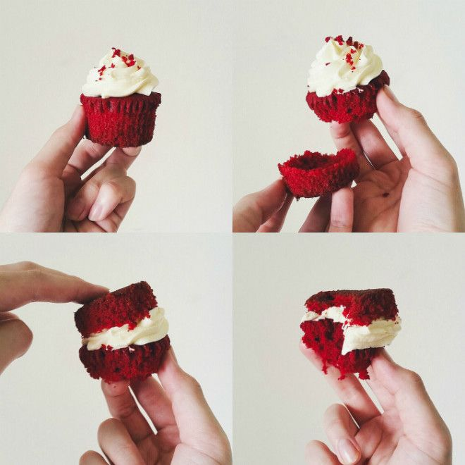Как аккуратно съесть капкейк