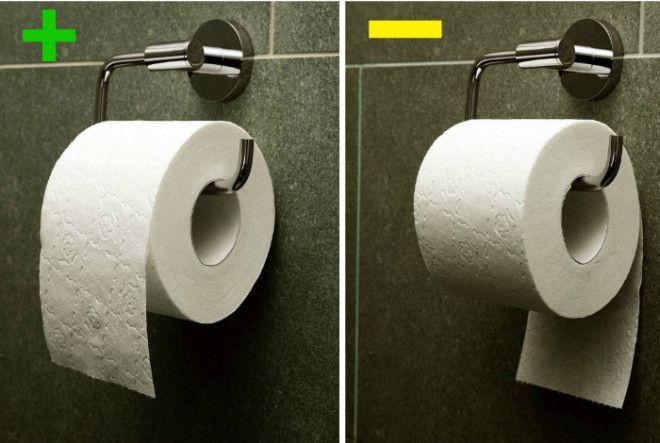 Как правильно вешать рулон туалетной бумаги