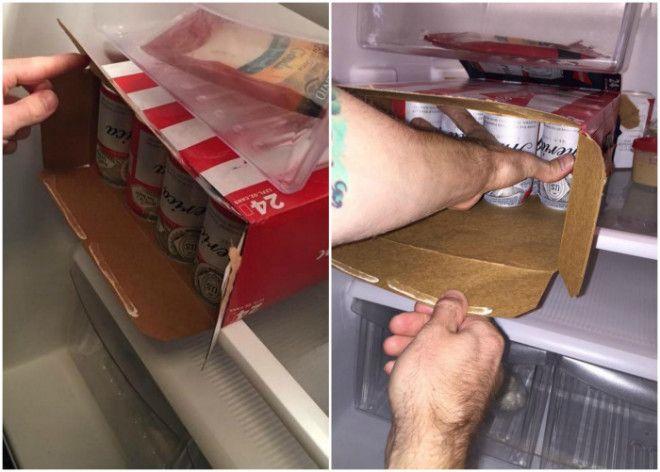 Как за один раз переместить все банки из ящика в холодильник