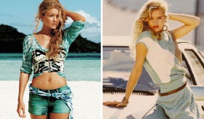 Джиджи внешне похожая на маму пошла по ее стопам и выбрала для себя карьеру в модельном бизнесе