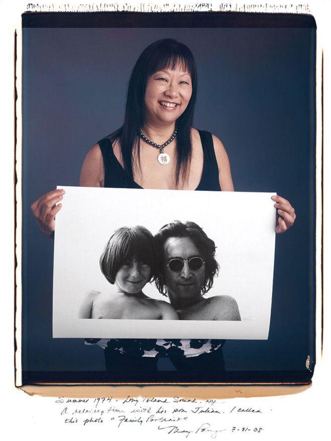 Мэй Пэнг May Pang Джон Леннон Семейный портрет 1974 год