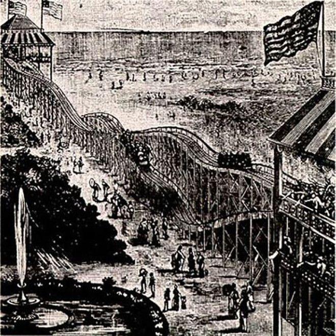 Первый аттракцион Томпсона 1884 год