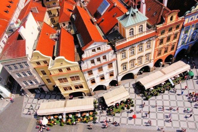 Вид с высоты на Прагу