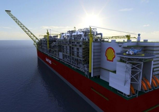 Это плавающий завод Shell