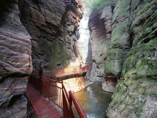 guoliang tunnel in taihang mountains in hunan province china