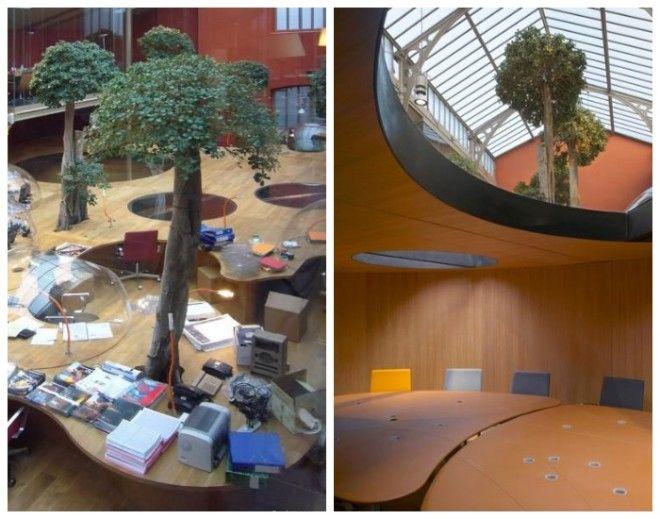 В офисе есть и общие рабочие зоны и зал для совещаний Компания PonsHuot Франция
