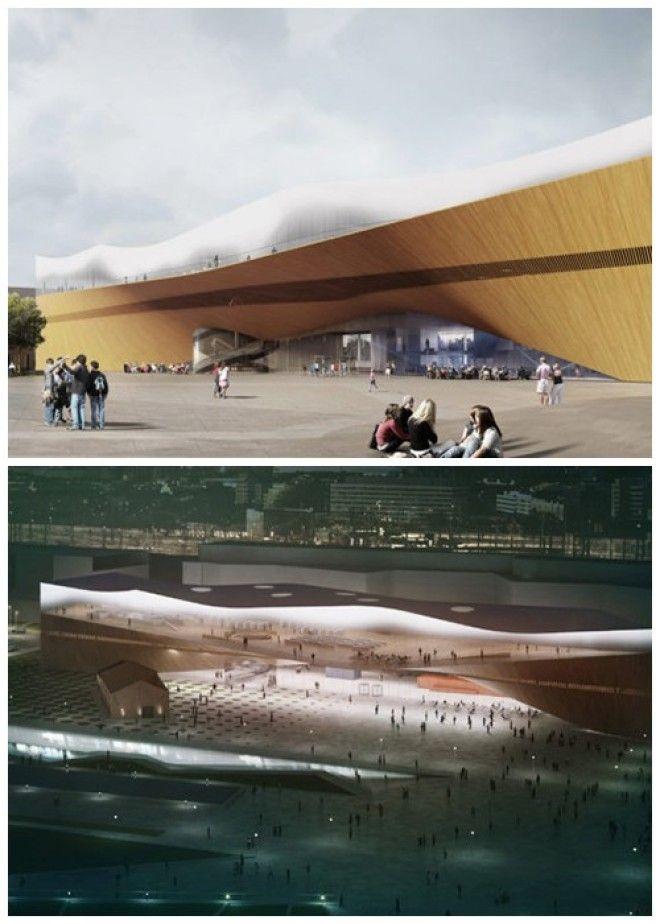 Деньги на строительство современного комплекса выделили из государственной казны Центральная библиотека Oodi Финляндия