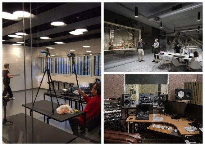 В центральной библиотеке Oodi оборудованы различные студии которыми можно воспользоваться бесплатно Хельсинки Финляндия