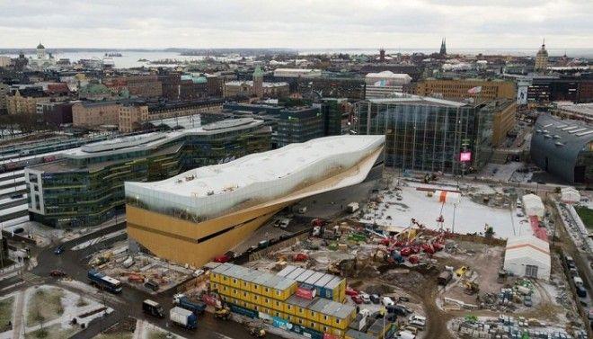 Библиотеку Oodi возвели на центральной площади возле Парламента Финляндии Фото ylefi