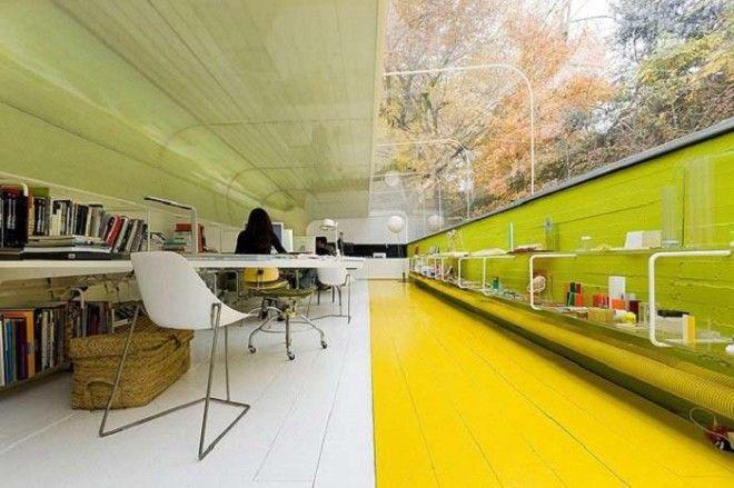 Концепция офиса Selgas Cano в буквальном смысле объединяет работника с природой Мадрид Испания Фото grandengineerru
