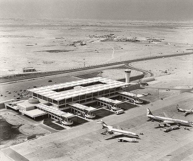 Аэропорт Дубая в 1965 году