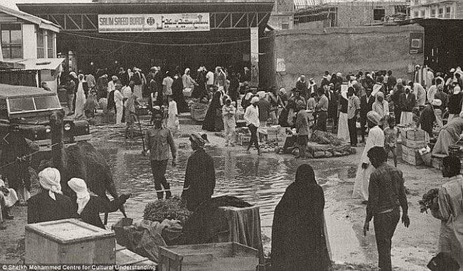 Базар в Дубае, 1960-е