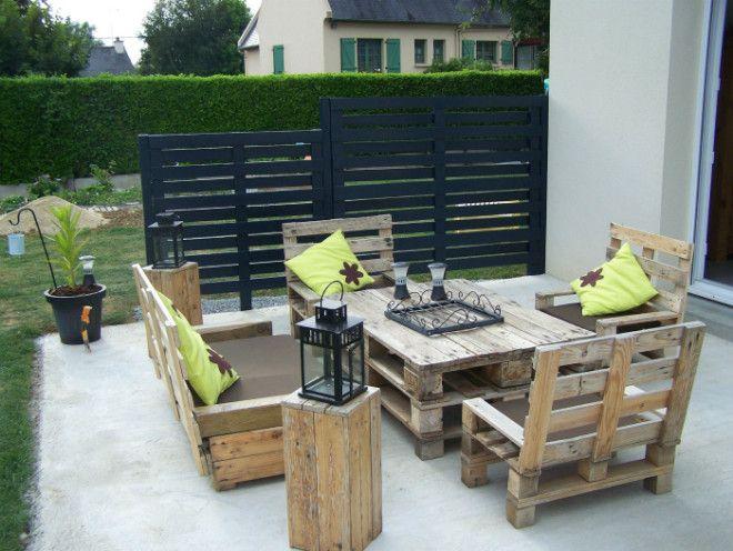Комплект садовой мебели Фото DIY Crafts