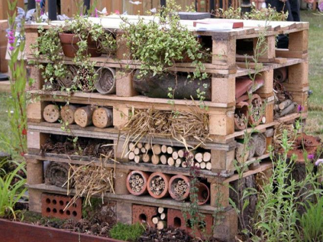 Креативная система для хранения дров Фото Pinterest
