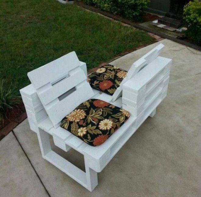 Креативная скамейка для двоих Фото Vorgarten Gestalten Nordseite