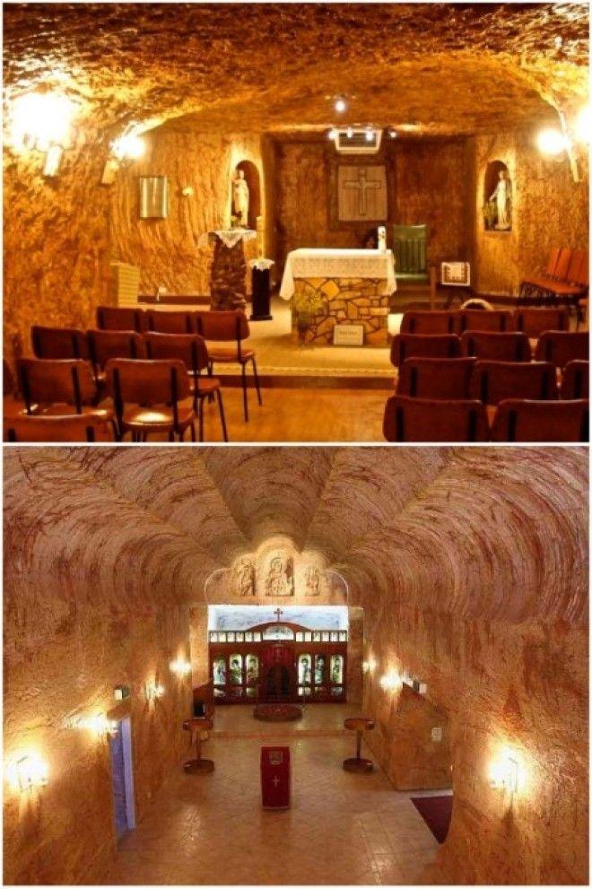 В подземном городе есть свои церкви КуберПеди Австралия Фото proberryru