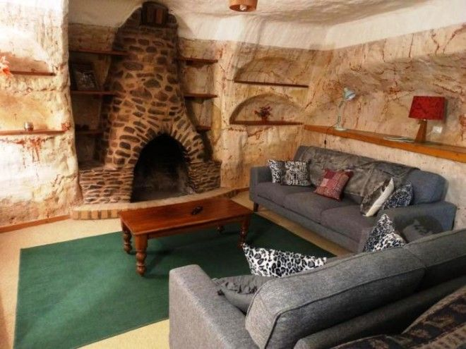 Оригинальный интерьер подземного жилища КуберПеди Австралия Фото legkozhitru
