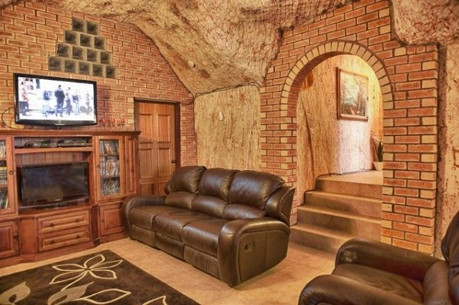 Частичная отделка интерьера подземного дома КуберПеди Австралия Фото idoorwaymirtesenru
