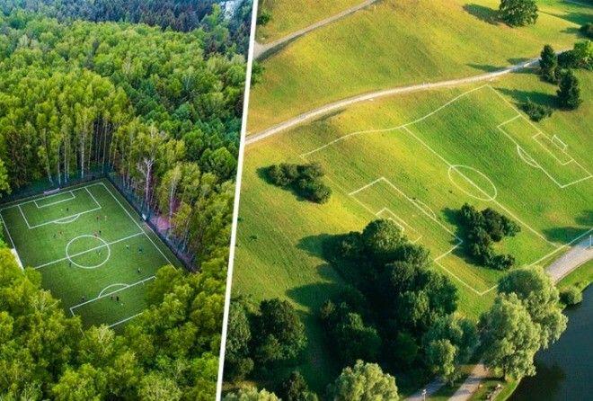 Уникальные футбольные поля, которые поражают воображение!