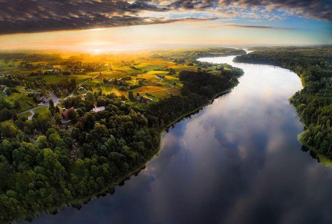 Литва с высоты завораживает