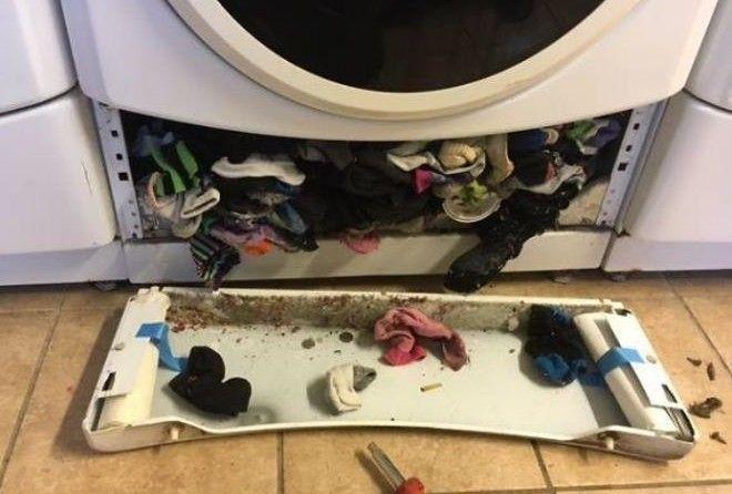 Вот где носки нашли свою